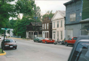 This image shows where the General Store stood on S. Mill St. in Fredericksburg, Ohio.