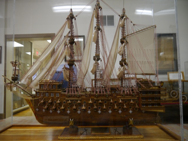 English Man of War warship model