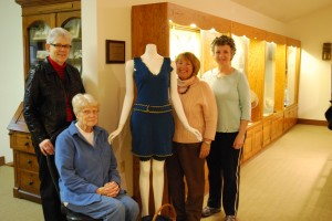 Textile Committee: (left to right) Ginny Gunn, Mary Eberhart, Julie Mennes, Allyson Leisy