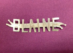 1884 James G. Blaine Presidential campaign brass pin.