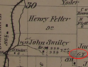 Caldwell's 1873 Map of Wayne County still showing a grave yard on the NW corner of Eby and Back Orrville roads.