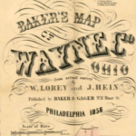 Humongous 1856 Baker's Map of Wayne Co. Ohio