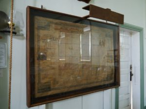 John Lechot's 1856 Bakers Map hanging in the Little Red Schoolhouse.