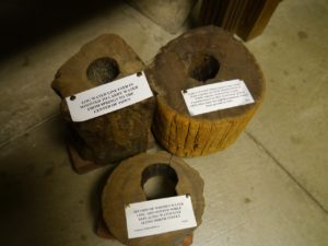 Some of Wooster's original wood water transportation pipes.