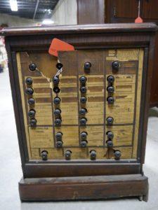 Judge Hiram B. Swartz's 1906 Voting Machine.